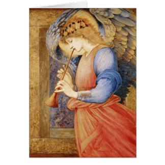 Ángel de la bella arte con la tarjeta de nota de l