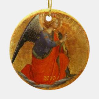 Ángel de la bella arte del cristiano del anuncio ornato