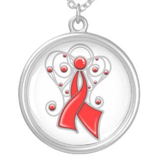 Ángel de la cinta de la enfermedad cardíaca en mem joyerias personalizadas