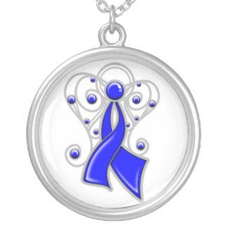 Ángel de la cinta del cáncer de colon en memoria colgante personalizado