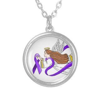 """Ángel de la """"cinta púrpura"""" de la conciencia pendientes"""