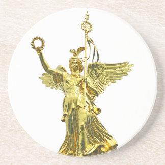 Ángel de la columna de la victoria (siegessaule),  posavasos diseño