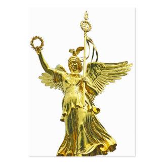 Ángel de la columna de la victoria (siegessaule), tarjetas de visita grandes