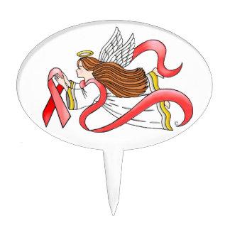 """Ángel de la conciencia de la """"cinta roja"""" del SIDA Palillos De Tarta"""