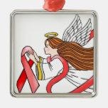 """Ángel de la conciencia de la """"cinta roja"""" del SIDA Ornamento Para Reyes Magos"""
