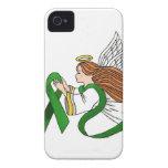 """Ángel de la conciencia de la """"cinta verde"""" Case-Mate iPhone 4 protectores"""