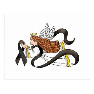 """Ángel de la conciencia del melanoma de la """"cinta tarjetas postales"""