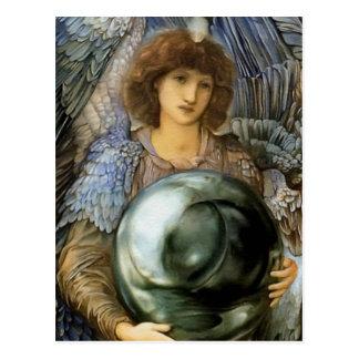 Ángel de la creación de Guillermo Burne-Jones Tarjetas Postales
