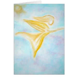 Ángel de la cura tarjeta de felicitación