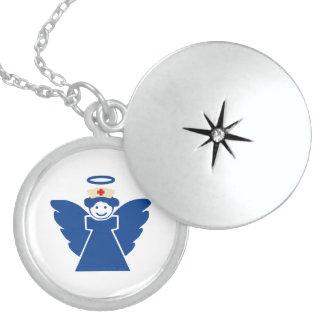Ángel de la enfermera medallón