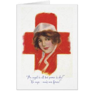 Ángel de la enfermera del francés tarjeta de felicitación