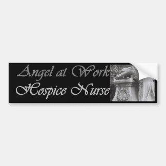 Ángel de la enfermera del hospicio pegatina de parachoque