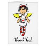 Ángel de la enfermera felicitacion