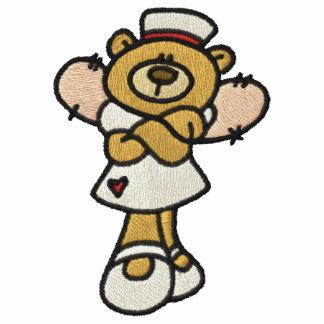 Ángel de la enfermera sudadera bordada con capucha