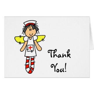 Ángel de la enfermera tarjeta de felicitación