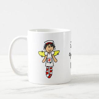 Ángel de la enfermera taza clásica