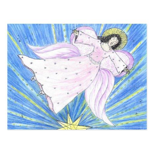 Ángel de la estrella tarjeta postal