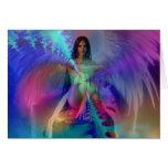 Ángel de la gloria tarjeta de felicitación