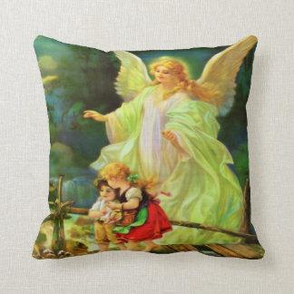 Angel De La Guarda Almohada y Oracion Throw Pillow