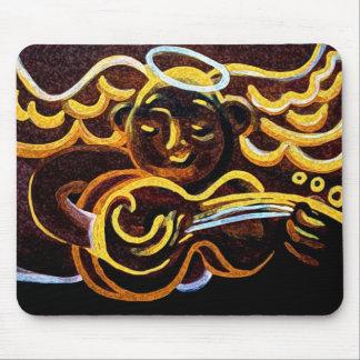 ángel de la guitarra alfombrillas de ratón