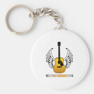 Ángel de la guitarra - ningunas preocupaciones llaveros personalizados