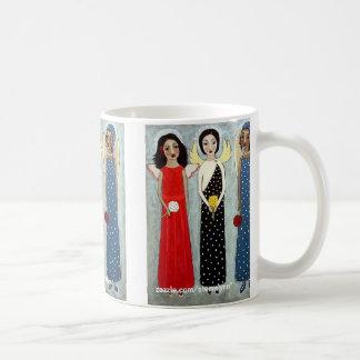 Ángel de la hermana tazas de café