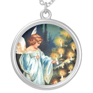 Ángel de la joyería del navidad, árbol de navidad,