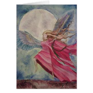 Ángel de la justicia tarjeta de felicitación