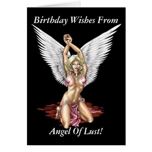 ¡Ángel de la lujuria! Tarjeta de cumpleaños