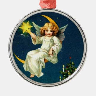 Ángel de la luna del navidad adorno de reyes