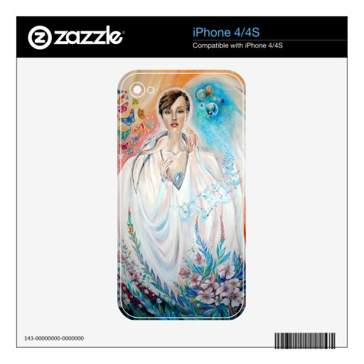 Ángel de la luz calcomanía para iPhone 4S