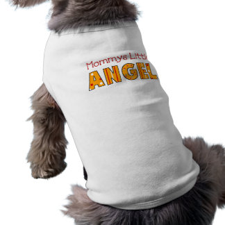 Ángel de la mamá de la ropa del mascota de la cami playera sin mangas para perro