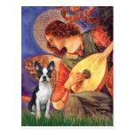 Ángel de la mandolina - Boston Terrier #1 Tarjeta Postal
