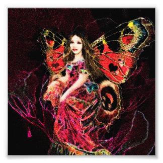 Ángel de la mariposa del corazón fotografía