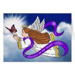 Ángel de la mariposa tarjeta de felicitación
