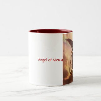 Ángel de la misericordia taza dos tonos