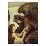 Ángel de la muerte (detalle) por Evelyn De Morgan Felicitaciones