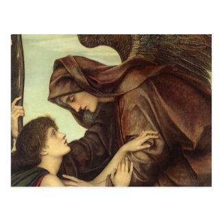 Ángel de la muerte (detalle) por Evelyn De Morgan Tarjetas Postales