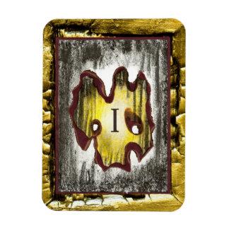 Ángel de la muerte rectangle magnet