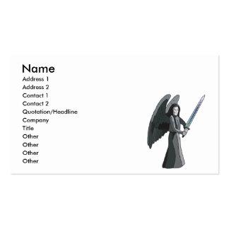 ángel de la muerte tarjetas de visita