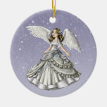 Ángel de la nieve adorno de reyes