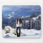 Ángel de la nieve alfombrillas de raton