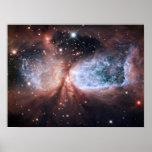 Ángel de la nieve de Hubble Póster