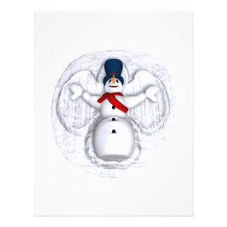 Ángel de la nieve del hombre de la nieve tarjetas publicitarias