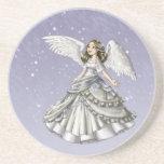Ángel de la nieve posavasos diseño