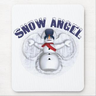 Ángel de la nieve tapetes de raton