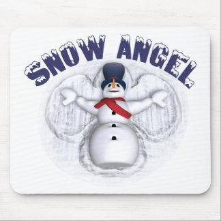 Ángel de la nieve tapetes de ratón