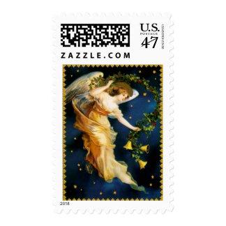 Ángel de la noche estrellada - navidad estampilla