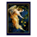 Ángel de la noche estrellada - navidad felicitación