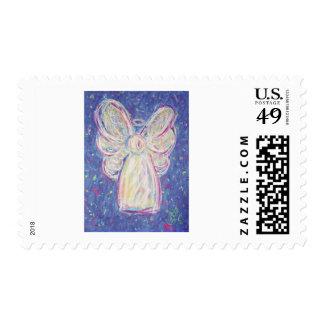 Ángel de la noche estrellada sello postal